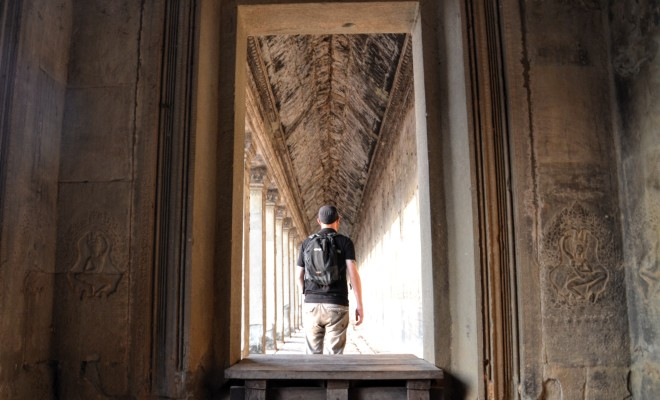 Picture of a solo traveller in Angkor Wat, Cambodia