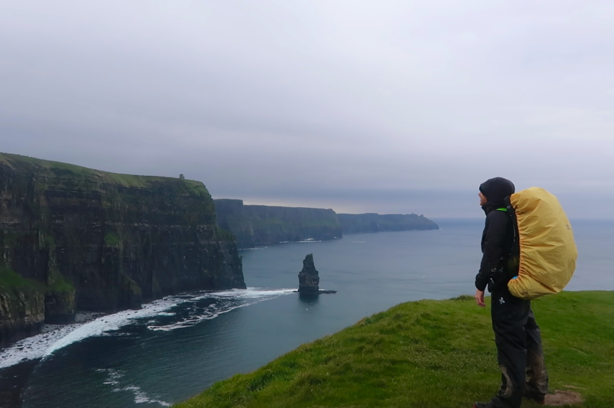 Backpacker Cliffs of Moher