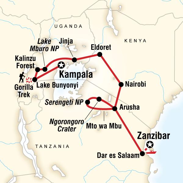 Kampala to Zanzibar Overland Tour