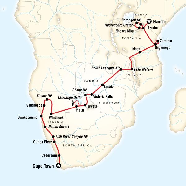 Nairobi to Cape Town