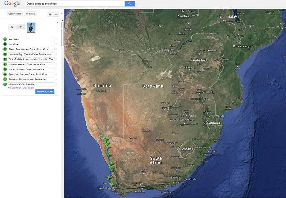 cycle cape town to namibia