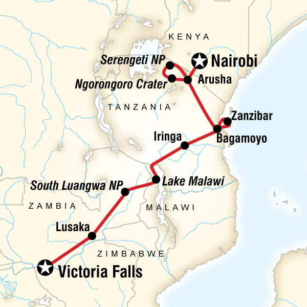 Nairobi to Vic Falls Overland Tour