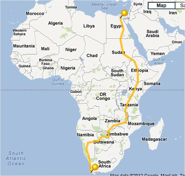 Bike Touring Africa Map